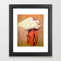 CLOUDY HEAD Framed Art Print