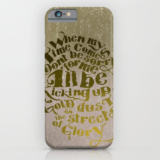 Kicking up gold dust on the streets of glory iPhone & iPod Case