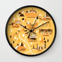 Survivors Map Wall Clock