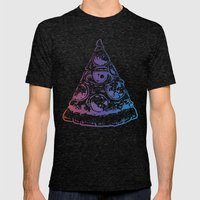 All Seeing Pizza Mens Fitted Tee Tri-Black SMALL
