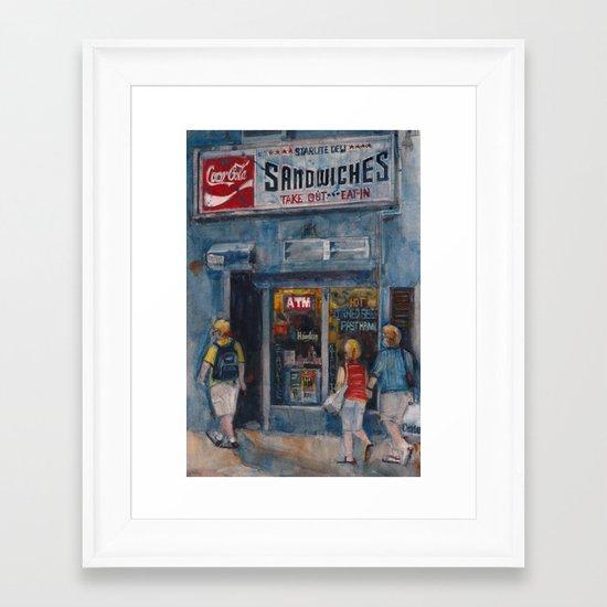 Midtown Diner, New York City Framed Art Print
