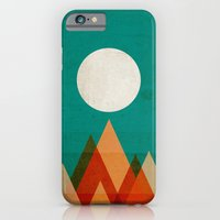 iPhone Cases featuring Full moon over Sahara desert by Budi Kwan
