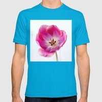 Pink Tulip Mens Fitted Tee Teal SMALL