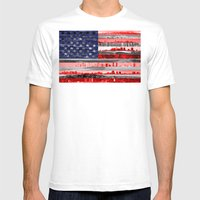 My America Mens Fitted Tee White SMALL