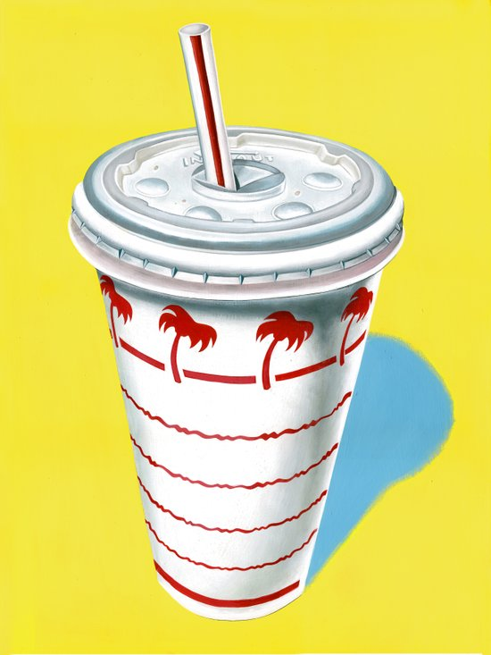 In-N-Out Cup Canvas Print