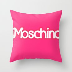 Moschino Barbie Throw Pillow