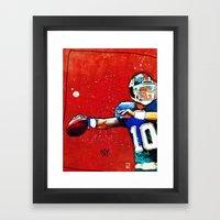 NY Giants' Eli Manning Framed Art Print