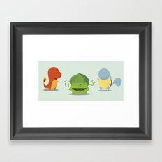 The First Pokemon Framed Art Print