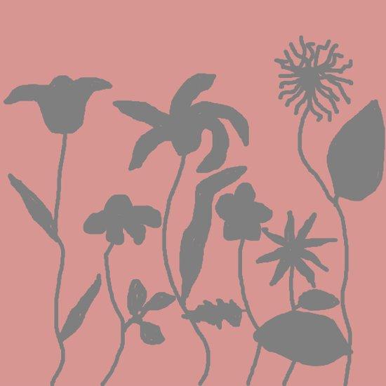 Gray on Pink Art Print