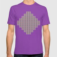 Connect the Dots Pattern Mens Fitted Tee Ultraviolet SMALL