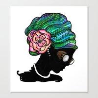 Goggley Girl Canvas Print
