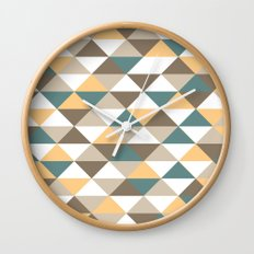 Triangle Pattern #2 Wall Clock