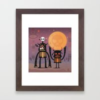 Moon catcher brothers  Framed Art Print