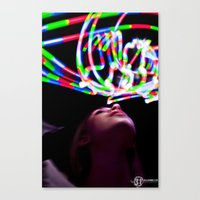 Trippy Light Painting Canvas Print