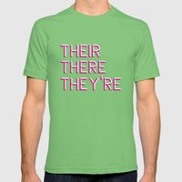 Their, There, They're Mens Fitted Tee Grass SMALL