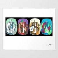Grayskull, Smurf, Thunde… Art Print