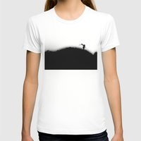 Zombie Womens Fitted Tee White SMALL