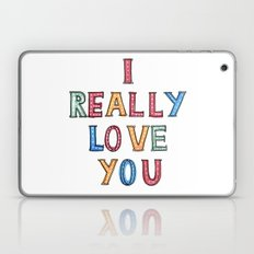 I really love you Laptop & iPad Skin