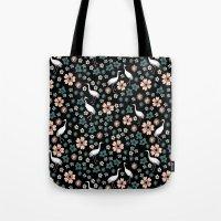 Crane Blossoms By Andrea… Tote Bag