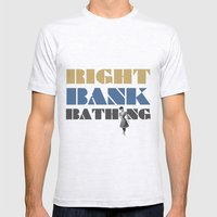 Right bank bathing Mens Fitted Tee Ash Grey SMALL