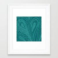 Sketchy Geometric Waves Framed Art Print