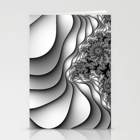 Layers of Snow Stationery Card