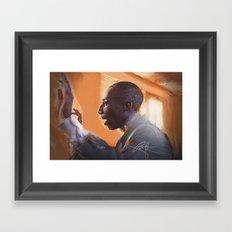The musical director Framed Art Print