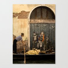 Gondola and Graffiti Canvas Print