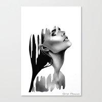 Paint Rain Canvas Print