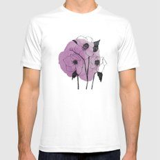 helleborus SMALL Mens Fitted Tee White