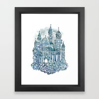 Crystal Castle Framed Art Print