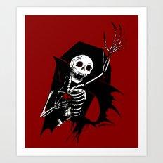 Death of Dracula Art Print