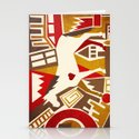 Abstract Pattern Unicorn Stationery Cards