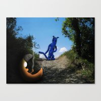 Where The Moon Goes To S… Canvas Print
