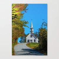 Chapel on the hill Canvas Print