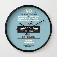 No Es Tanto Ver Wall Clock