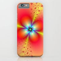 Floral Sprays In Red And… iPhone 6 Slim Case