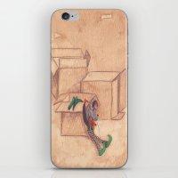 Tres Cajas De Cartón Y … iPhone & iPod Skin