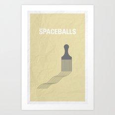 Spaceballs minimalist poster Art Print