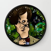 Wall Clock featuring Bow Ties are Cool. by BinaryGod.com