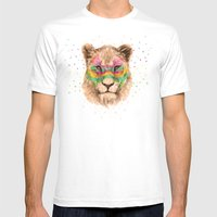 Lioness II Mens Fitted Tee White SMALL