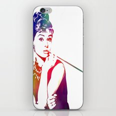 Audrey Hepburn Breakfast at Tiffany's iPhone & iPod Skin