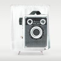 Box Camera Retro - Photo… Shower Curtain