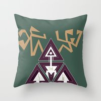 Shelter The Weak Triangl… Throw Pillow