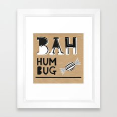 Bah Humbug! - Christmas Card Framed Art Print