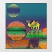 Pop Camel Canvas Print
