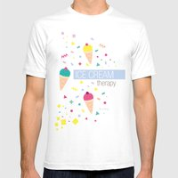 Ice Cream Therapy Mens Fitted Tee White SMALL