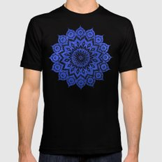 ókshirahm sky mandala Mens Fitted Tee Black LARGE