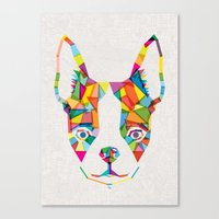 Rainbow Bulldog Canvas Print