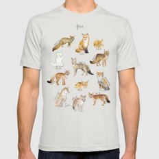 Foxes Mens Fitted Tee Silver SMALL
